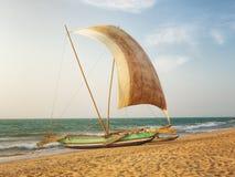 渔夫的筏,斯里兰卡 免版税库存照片