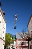 渔夫的雕塑在Monte卡西诺街上的 免版税库存图片