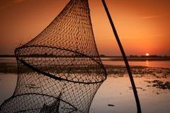 渔夫网 免版税库存照片