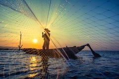 渔夫网 免版税库存图片