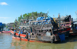 渔夫船 库存图片
