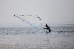 渔夫铸件 免版税库存照片