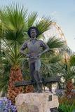 渔夫雕塑  库存照片