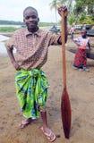 渔夫颁奖典礼在乡区在象牙海岸 库存图片