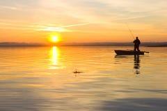 渔夫飞溅 免版税库存照片