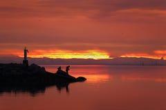 渔夫, Garry点, Steveston, BC 图库摄影