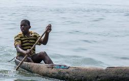 年轻渔夫 图库摄影