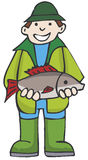 渔夫 向量例证