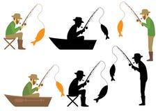 渔夫 皇族释放例证