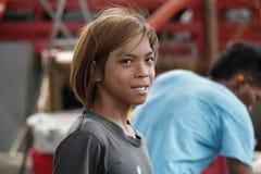 年轻渔夫 免版税图库摄影