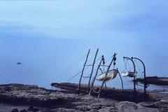 渔夫` s小船 免版税库存图片