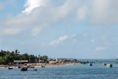 渔夫` s村庄在Rameswaram,印度 免版税图库摄影