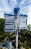 渔夫` s村庄德拉瑞码头加利福尼亚 免版税库存图片