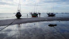 渔小船 免版税图库摄影