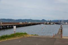 渔拖网渔船在Astoria 图库摄影