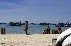 渔村。 免版税库存图片