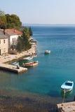 渔村在克罗地亚 免版税图库摄影