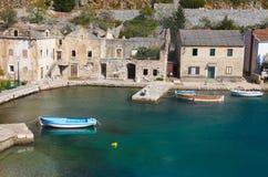 渔村在克罗地亚 免版税库存照片