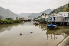 渔村在大澳,香港,中国 库存照片
