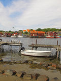 渔村, Kosterhavet 图库摄影