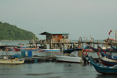 渔村 图库摄影