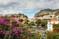 渔村Camara de罗伯斯,马德拉岛,葡萄牙 库存照片