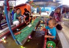 渔比赛 库存照片