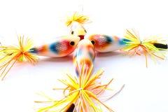 渔的五颜六色的鱼比赛诱剂popper 免版税图库摄影