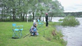 渔的孩子 湖的基于 股票视频