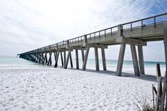 渔码头在佛罗里达在墨西哥湾 免版税库存照片