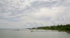 渔码头 库存照片