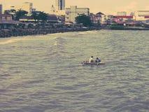 渔船从海 库存照片
