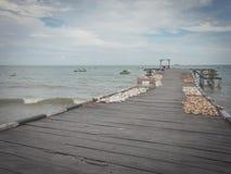 渔船从海 免版税库存照片