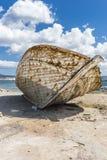 渔船击毁 库存图片