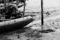 渔船和捕鱼设备 库存照片