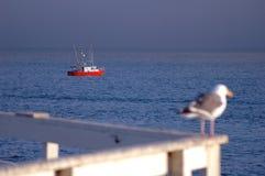 渔船和观察员 免版税库存照片