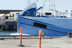 渔船在丹麦 免版税库存照片
