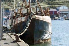 渔船在丹麦 库存照片