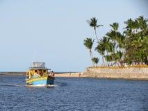 渔船在波尔图Seguro/巴西 免版税图库摄影