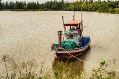 渔船在泰国湾的泰国中国南方 库存照片