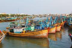 渔船在越南 免版税库存图片