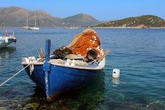渔船在达尔马提亚,克罗地亚 库存图片