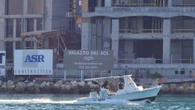 渔船在迈阿密4k 股票录像