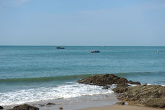 渔船在头顿 越南 免版税库存照片