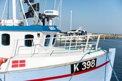 渔船在Vedbaek 免版税库存图片