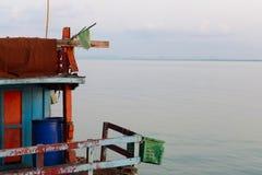 渔船的有些零件 免版税库存图片