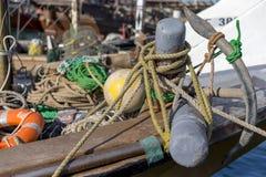 渔船的细节 免版税库存照片