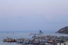 渔船的透视 免版税库存图片
