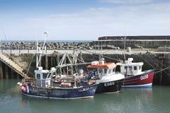 渔船莱姆海湾港口 免版税库存图片