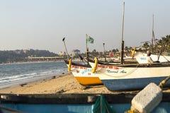 渔船行,印度 库存图片